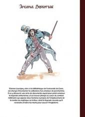 Verso de Arcana historiae -1- Le parchemin de Guillaume