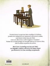 Verso de Marie Curie la scientifique aux deux prix Nobel