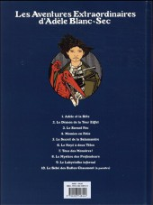 Verso de Adèle Blanc-Sec (Les Aventures Extraordinaires d') -1e17- Adèle et la bête