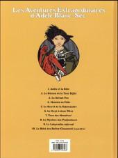 Verso de Adèle Blanc-Sec (Les Aventures Extraordinaires d') -3e17- Le savant fou