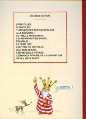 Verso de La nef des fous -8TL- Disparition