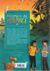 Verso de Histoire de Maurice -1- 1598-1767, premiers pas de la colonisation d'une île-carrefour.