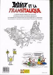 Verso de Astérix (albums Luxe en très grand format) -37- Astérix et la Transitalique