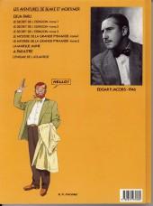 Verso de Blake et Mortimer (Les Aventures de) -4a1987- Le Mystère de la Grande Pyramide - Tome 1