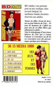 Verso de Confessions érotiques BD (Média 1000) -85- Martine : Mes aventures sexuelles quand j'étais hôtesse de l'air