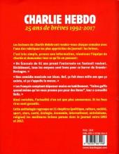 Verso de Charlie Hebdo - 25 ans de brèves 1992-2017
