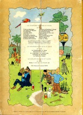 Verso de Tintin (Historique) -14B33- Le temple du soleil
