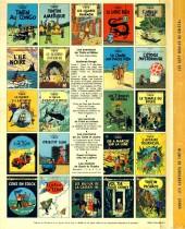 Verso de Tintin (Historique) -13C6- Les 7 boules de cristal
