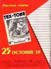 Verso de Tex-Tone -59- Le jeu de la vie et de l'honneur