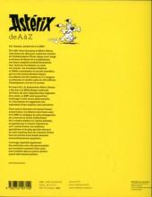 Verso de Astérix (Autres) -Cat2013'- Astérix de a à z