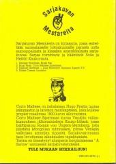 Verso de Sarjakuvan Mestareita -2- Corto Maltese Siperiassa