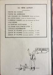 Verso de Tintin - Pastiches, parodies & pirates - Tintin au pays de l'or noir
