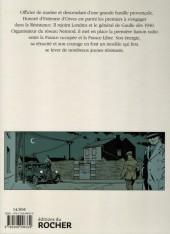 Verso de Honoré d'Estienne d'Orves - Pionner de la résistance
