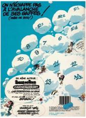 Verso de Gaston -13a1984/10- Lagaffe mérite des baffes