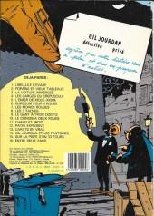 Verso de Gil Jourdan -9b86- Le gant à trois doigts