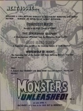 Verso de Monsters Unleashed (Marvel comics - 1973) -5- The mark of the Man-Thing