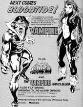 Verso de Vampire Tales (Marvel comics - 1973) -4- Night of the snow vampire
