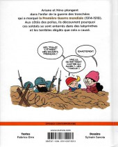 Verso de Le fil de l'Histoire (raconté par Ariane & Nino) -HC- La guerre des tranchées (L'enfer des poilus)
