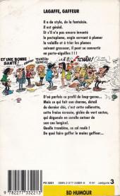 Verso de Gaston (Poche) -10- Lagaffe, gaffeur