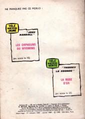 Verso de Télé série bleue (Les hommes volants, Destination Danger, etc.) -27- Destination Danger : Routes en feu