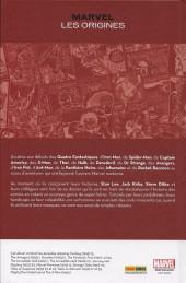 Verso de Marvel Les origines -TL- Marvel Les origines + Coffret métal