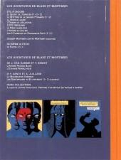 Verso de Blake et Mortimer (Les Aventures de) -16TS- Les Sarcophages du 6e continent - Tome 1