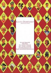 Verso de (Catalogues) Ventes aux enchères - Kahn-Dumousset - Khan-Dumousset - Bandes dessinées