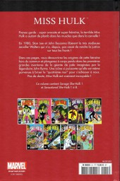 Verso de Marvel Comics : Le meilleur des Super-Héros - La collection (Hachette) -51- Miss hulk