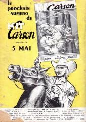 Verso de Kit Carson -2- Le roi des hors-la-loi !