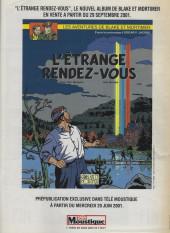 Verso de Blake et Mortimer (Les Aventures de) -6Télé Moust- La marque jaune