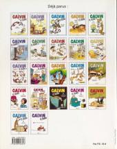 Verso de Calvin et Hobbes -23- Y a des jours comme ça !