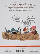 Verso de Le fil de l'Histoire (raconté par Ariane & Nino) - La guerre des tranchées (L'enfer des poilus)
