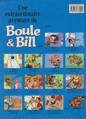 Verso de Boule et Bill -HS02c- Bill a disparu !