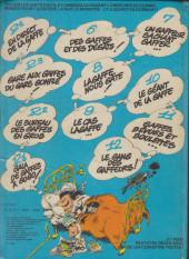 Verso de Gaston -R3 80a- Gare aux gaffes du gars gonflé