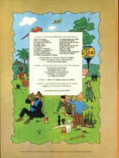Verso de Tintin (Historique) -15B39- Tintin au pays de l'or Noir