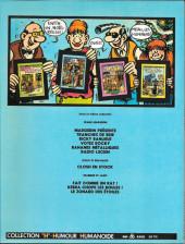 Verso de Votez Rocky - Tome 1a1982