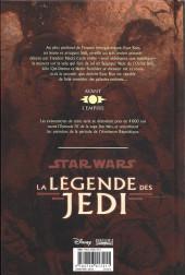 Verso de Star Wars - La légende des Jedi -4a2015- Les seigneurs des sith
