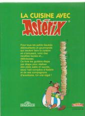Verso de Astérix (Autres) -6a- La cuisine avec Asterix