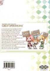 Verso de Sword art online - Girls' Ops -1- Tome 1