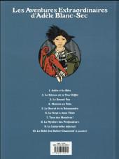 Verso de Adèle Blanc-Sec (Les Aventures Extraordinaires d') -6d18- Le noyé à deux têtes