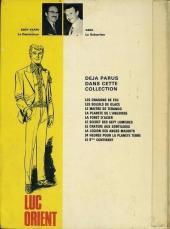 Verso de Luc Orient -11'- La vallée des eaux troubles