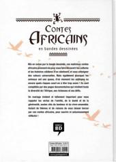 Verso de Contes du monde en bandes dessinées -b2018- Contes africains en bandes dessinées