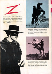 Verso de Walt Disney Presents Zorro (Gold Key - 1966) -5- The Marauders of Monterey
