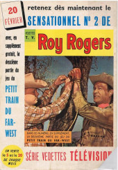 Verso de Roy Rogers, le roi des cow-boys (3e série - vedettes T.V) -1- (sans titre)