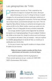 Verso de Tintin - Divers -TT- Les géographies de Tintin