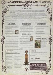 Verso de Le château des Animaux -1- La Gazette du Château n°1