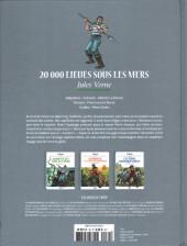 Verso de Les grands Classiques de la littérature en bande dessinée -34- 20 000 Lieues sous les Mers