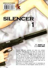 Verso de Silencer -1- Vol. 01