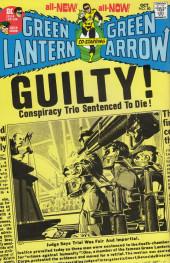 Verso de Green Lantern/ Green Arrow (1983) -3- Even an immortel can die!/ Death be my destiny