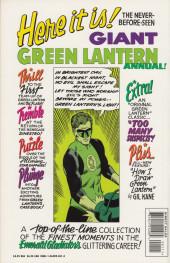 Verso de Green Lantern Vol.2 (DC comics - 1960) -AN01- Giant Green Lantern annual 1